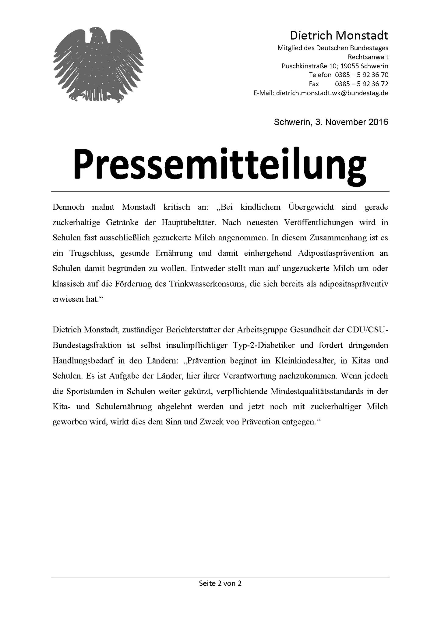 Archiv - Dietrich Monstadt MdB