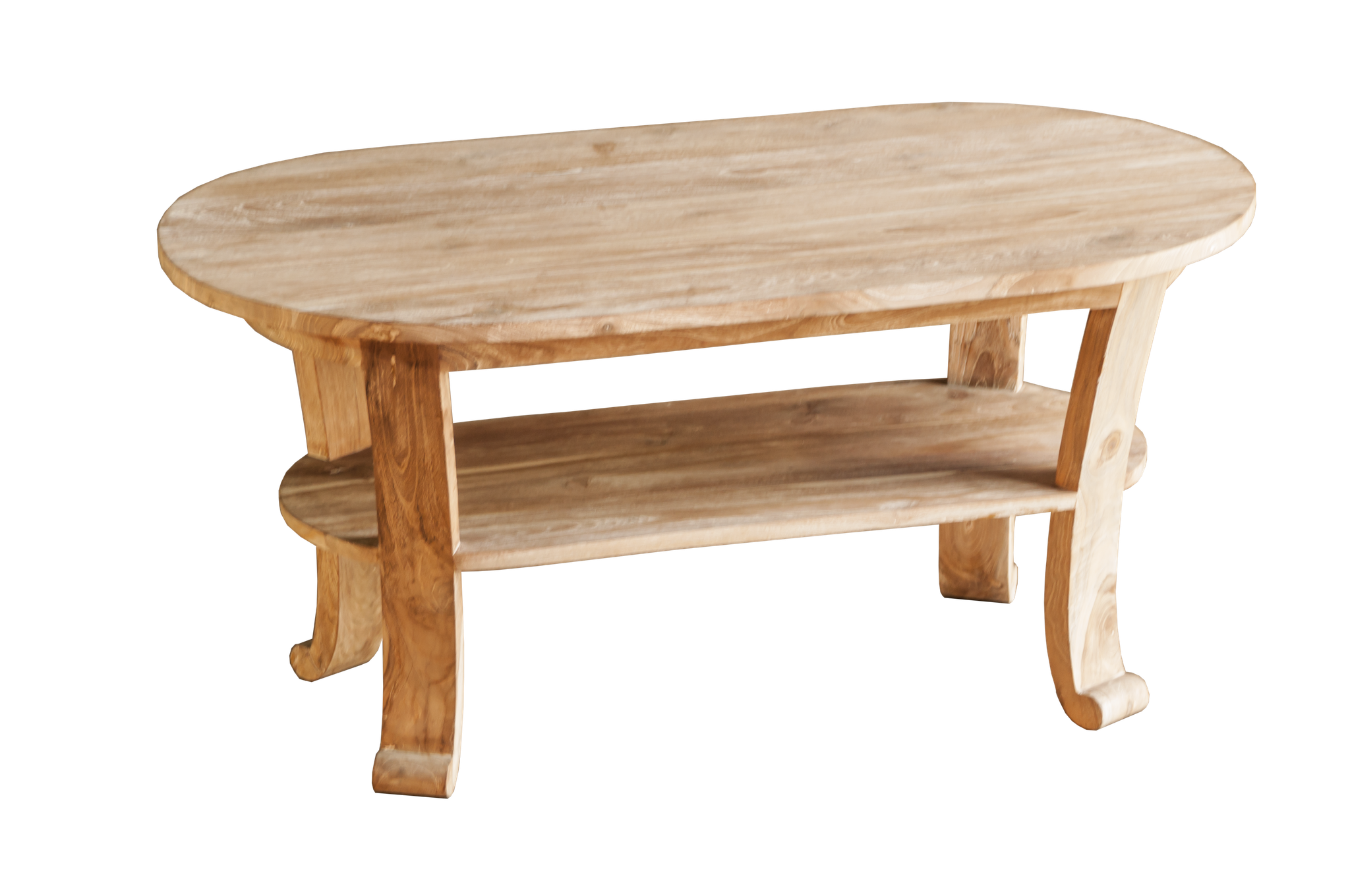 "Tisch zu Coffeetable-Set > massiv Teak, Farbgebung ""white washed"""