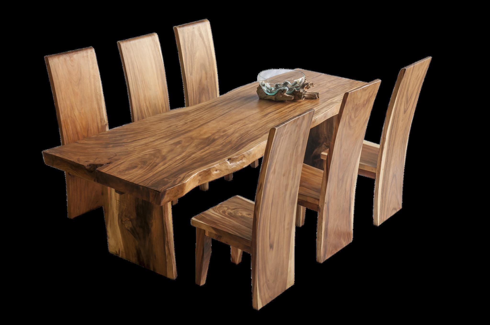 Esstisch + Stühle > massiv Mahagoni
