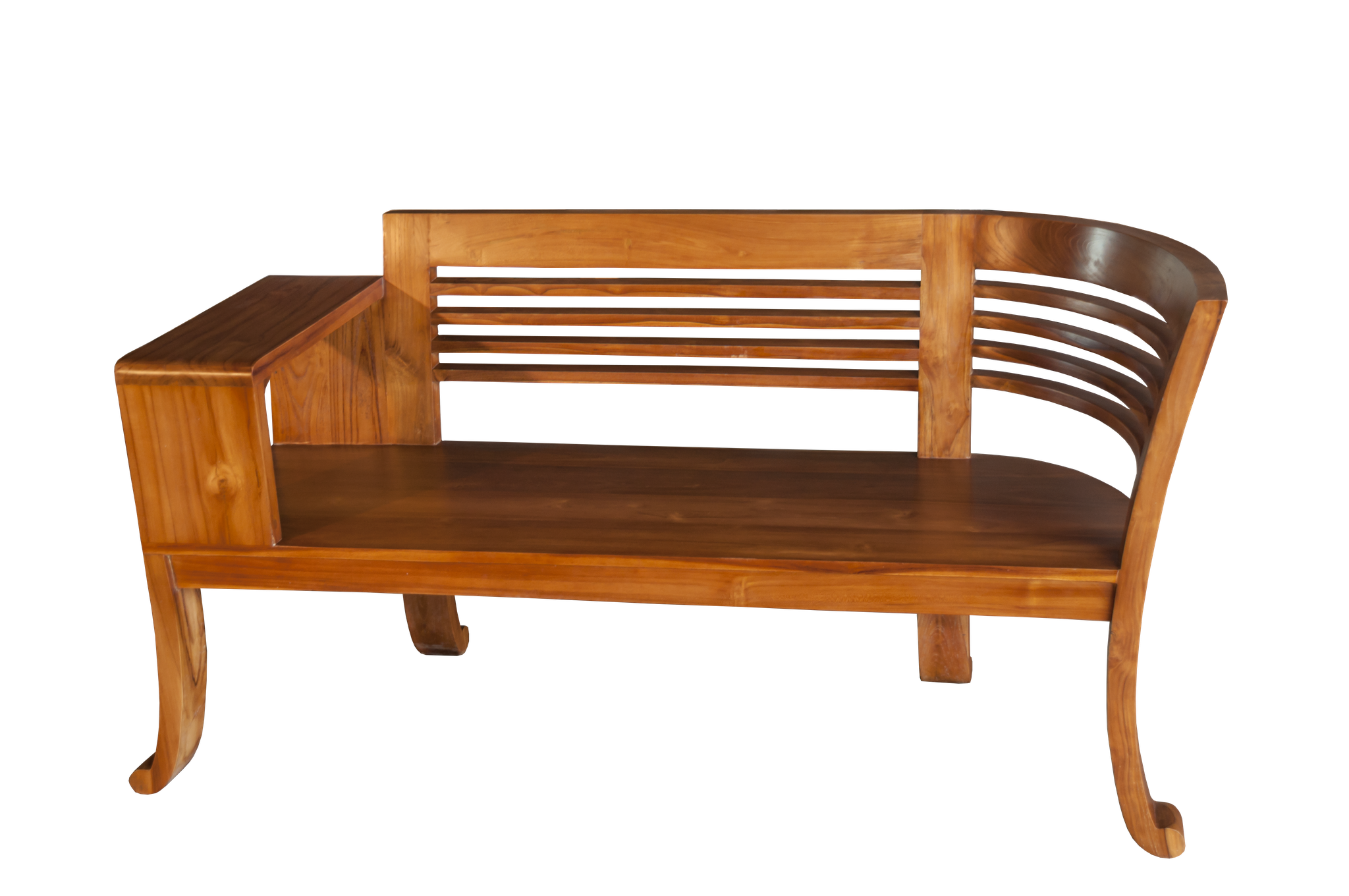 Bank zu Coffeetable-Set > massiv Teak