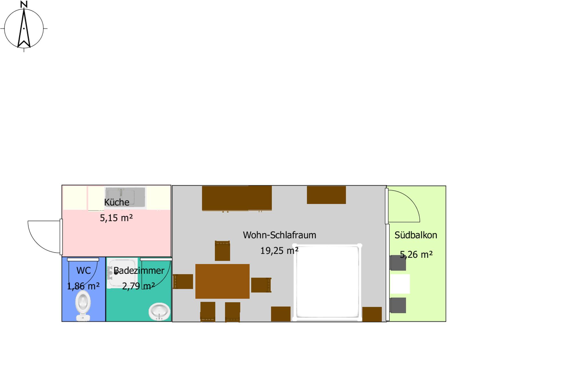 Zimmerplan- Haus Löger Apartments - Windischgarsten
