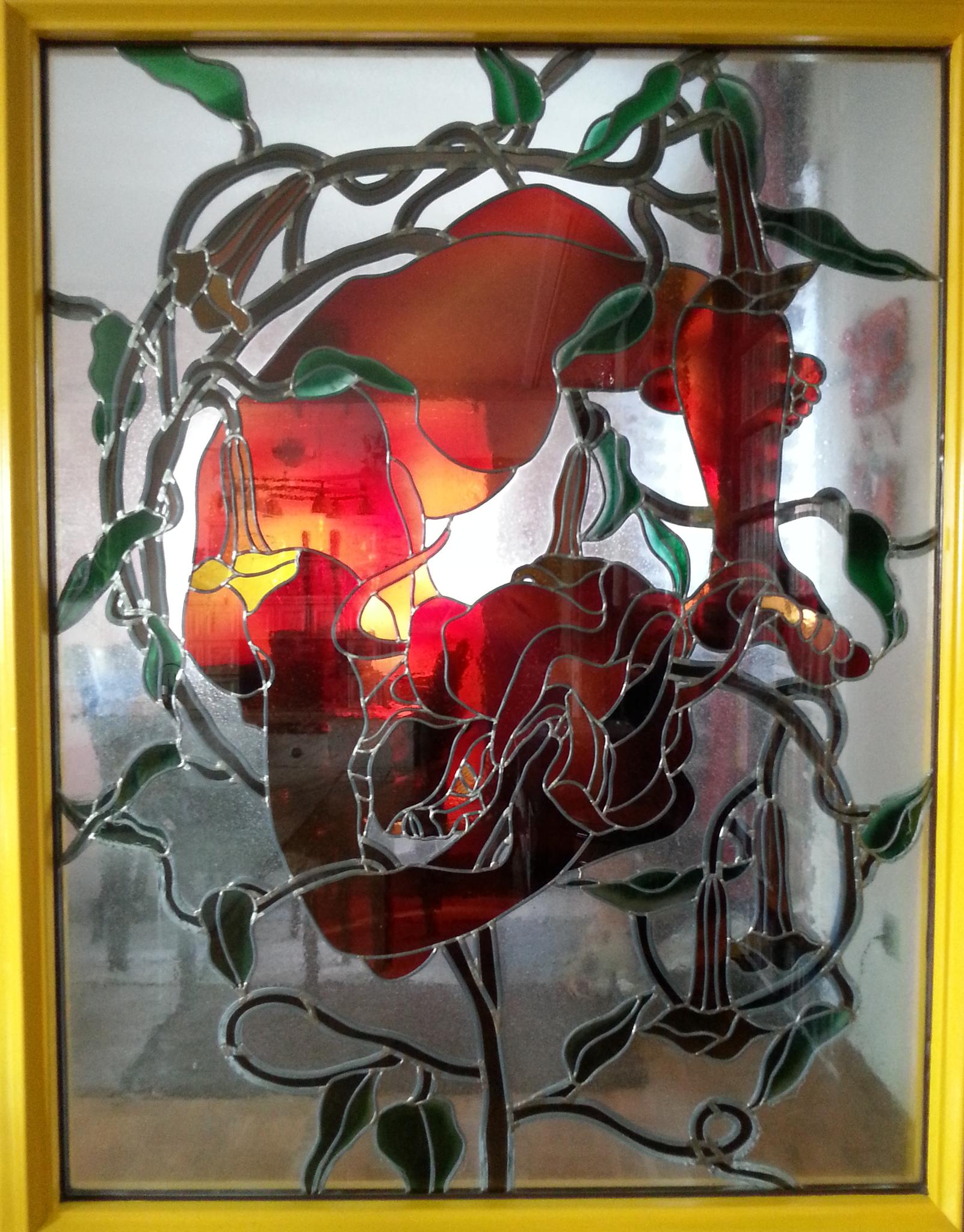 """Meisterstück """"Frau in Lianen"""" von Glasermeister Thilo Langewehr"""