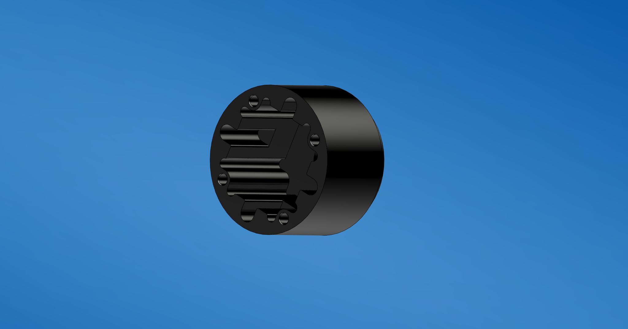 Konstruktionsphase am Differentialgehäuse, das Design vom Spritzgussteil muss aufgrund der Frässerradien zur Herstellung aus Aluminium angepasst werden.