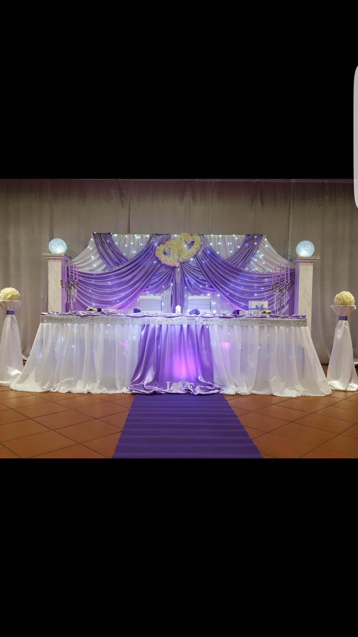 Hochzeitsdekoration Dekoverleih Brauttisch Stuhlhussen