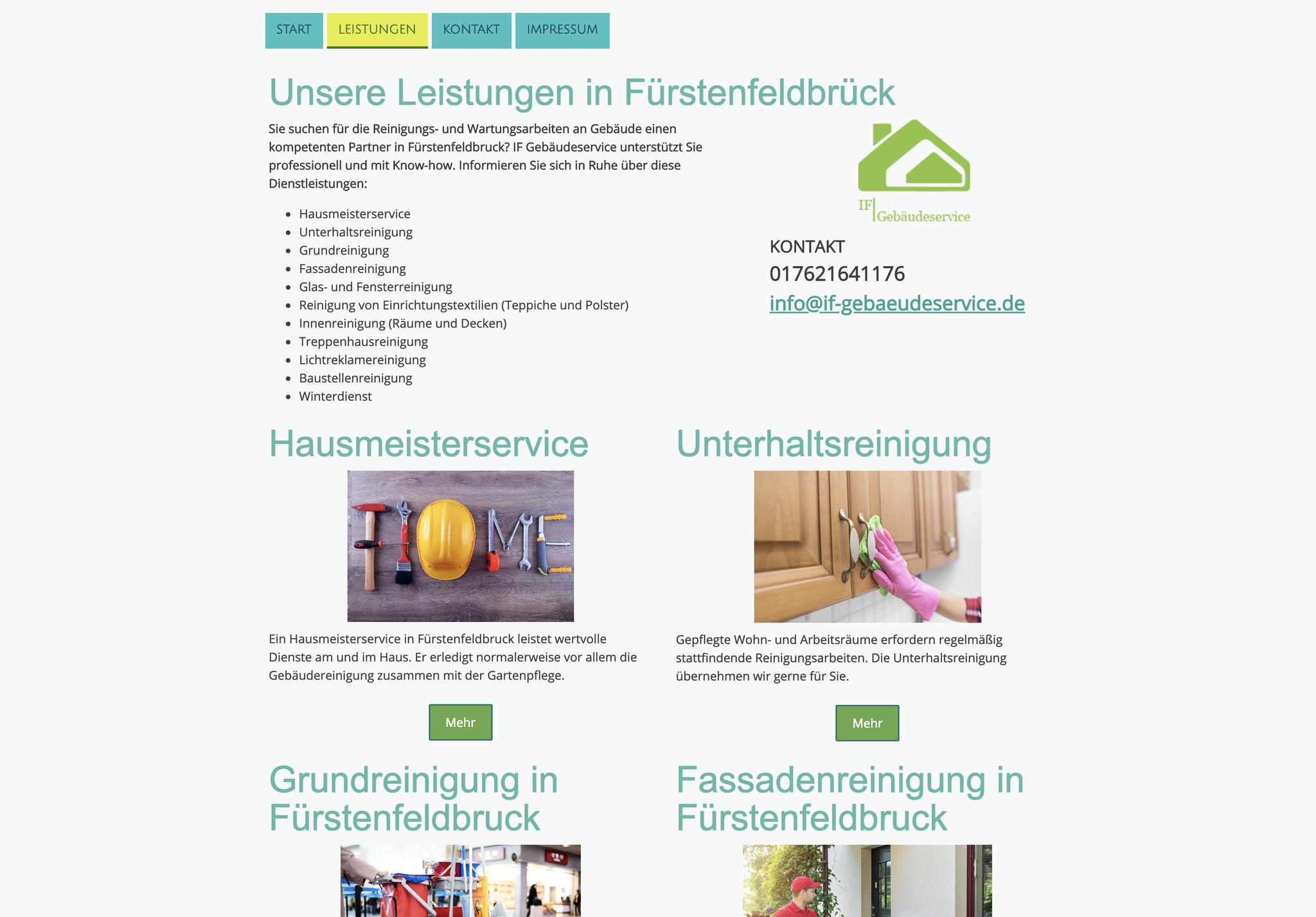 Website für Hausmeisterservice
