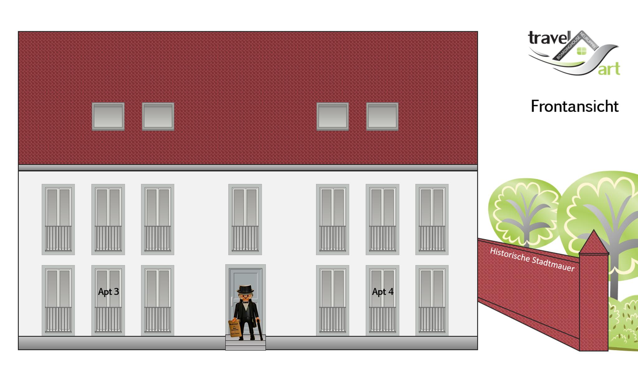 Frontansicht Apartmenthaus