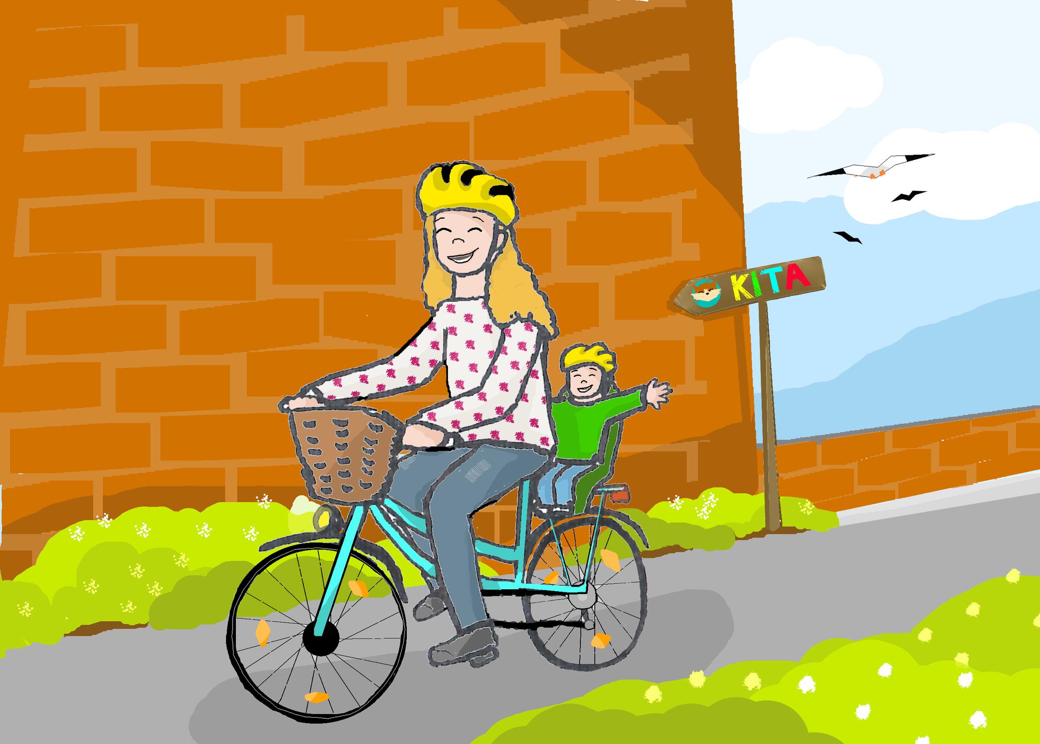 """6. Wie wär's mit einer """"Zu Fuß zur Kita""""-Aktionswoche? Eltern werden aufgerufen, für eine Woche auf Fahrrad, ÖPNV oder am besten auf die eigenen zwei Füße umzusteigen. Die Kinder können auf Plakaten und Wegeskarten davon erzählen."""