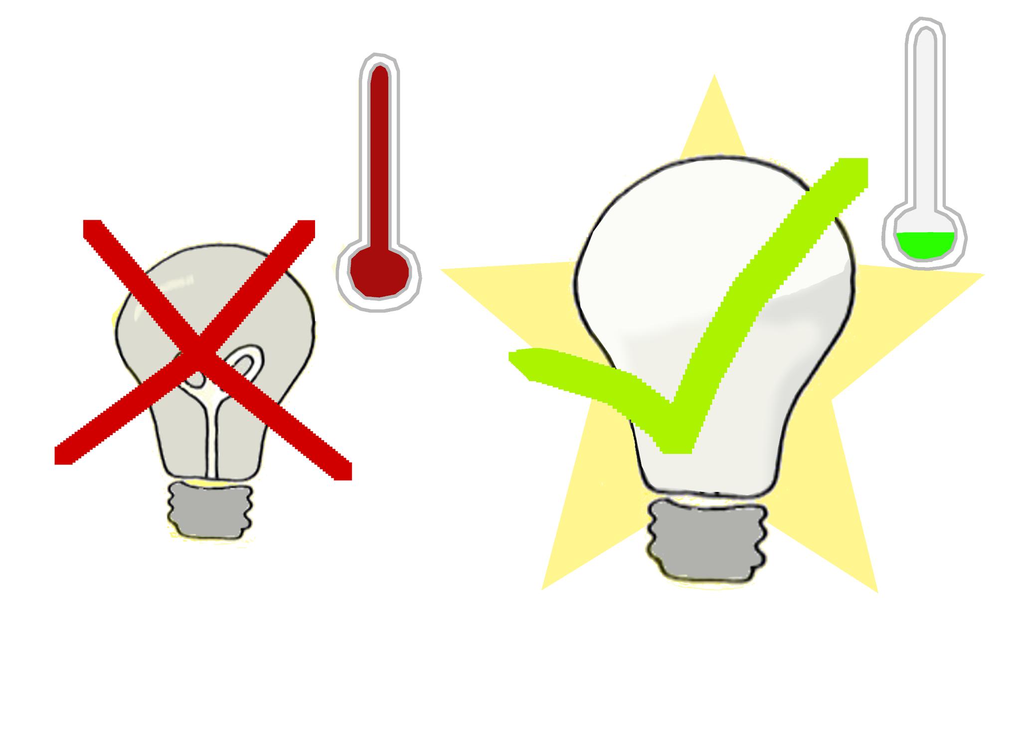 2. LED-Lampen verbrauchen bis zu 90% weniger Strom als herkömmliche Glühbirnen und toppen auch Energiesparlampen. Lichtschalter können kindgerecht mit Punkten oder passenden Bildern beschriftet werden, um unnötigem Herumschalten vorzubeugen.