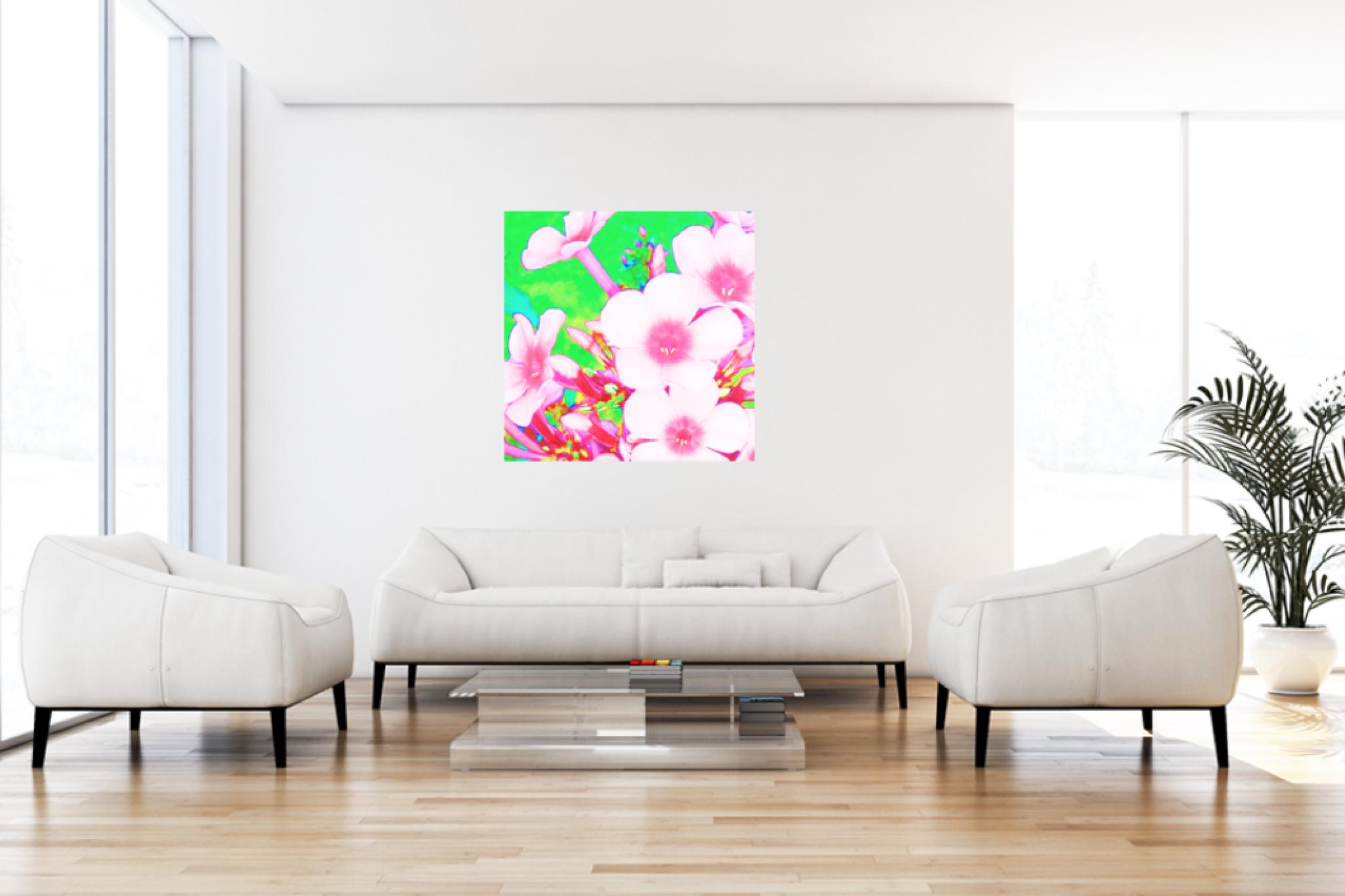 "Leinwandbild Pop Art ""Rosa Traum1"""