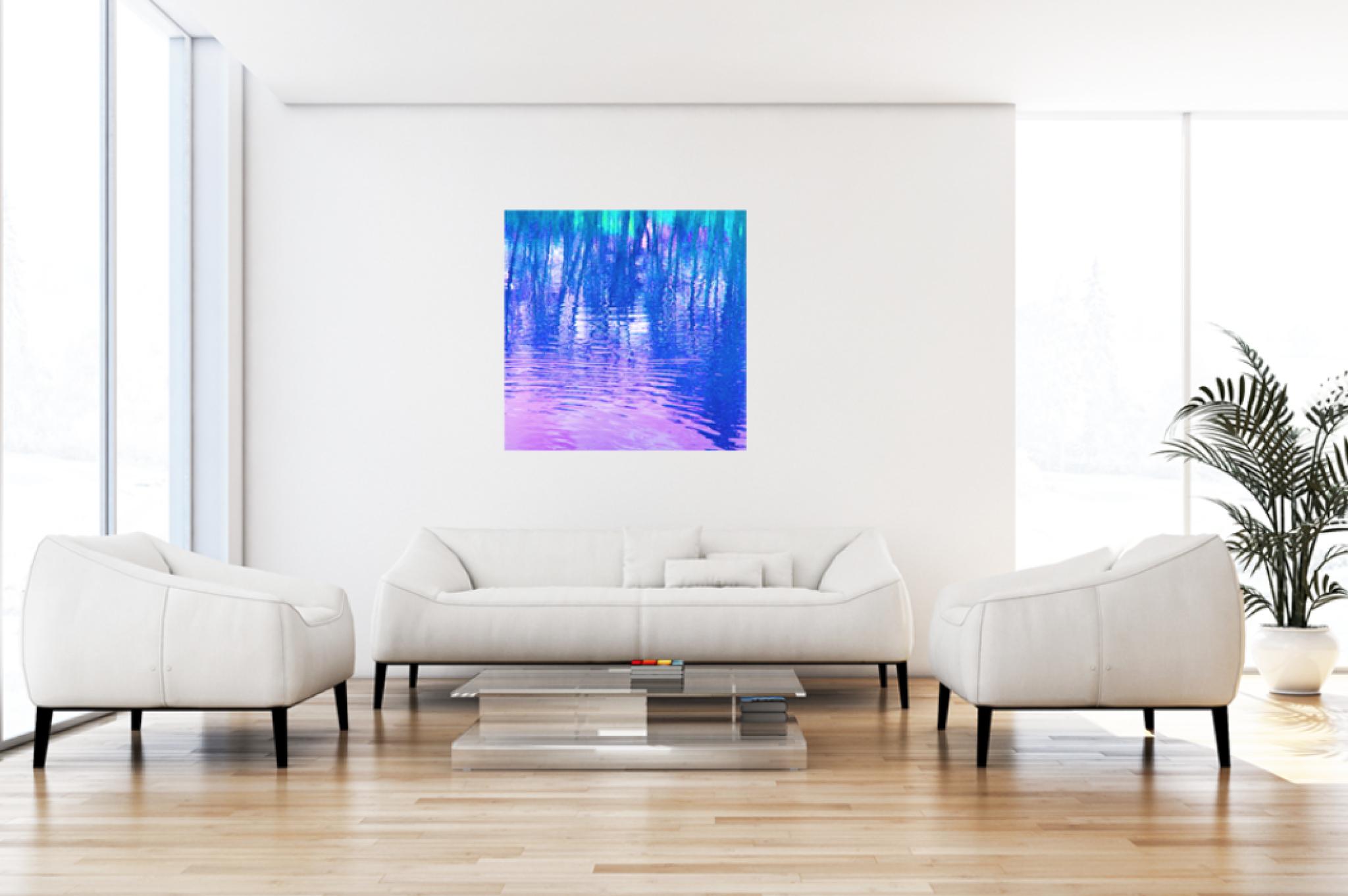 """Leinwandbild Pop Art """"Wasserwelten blau"""""""