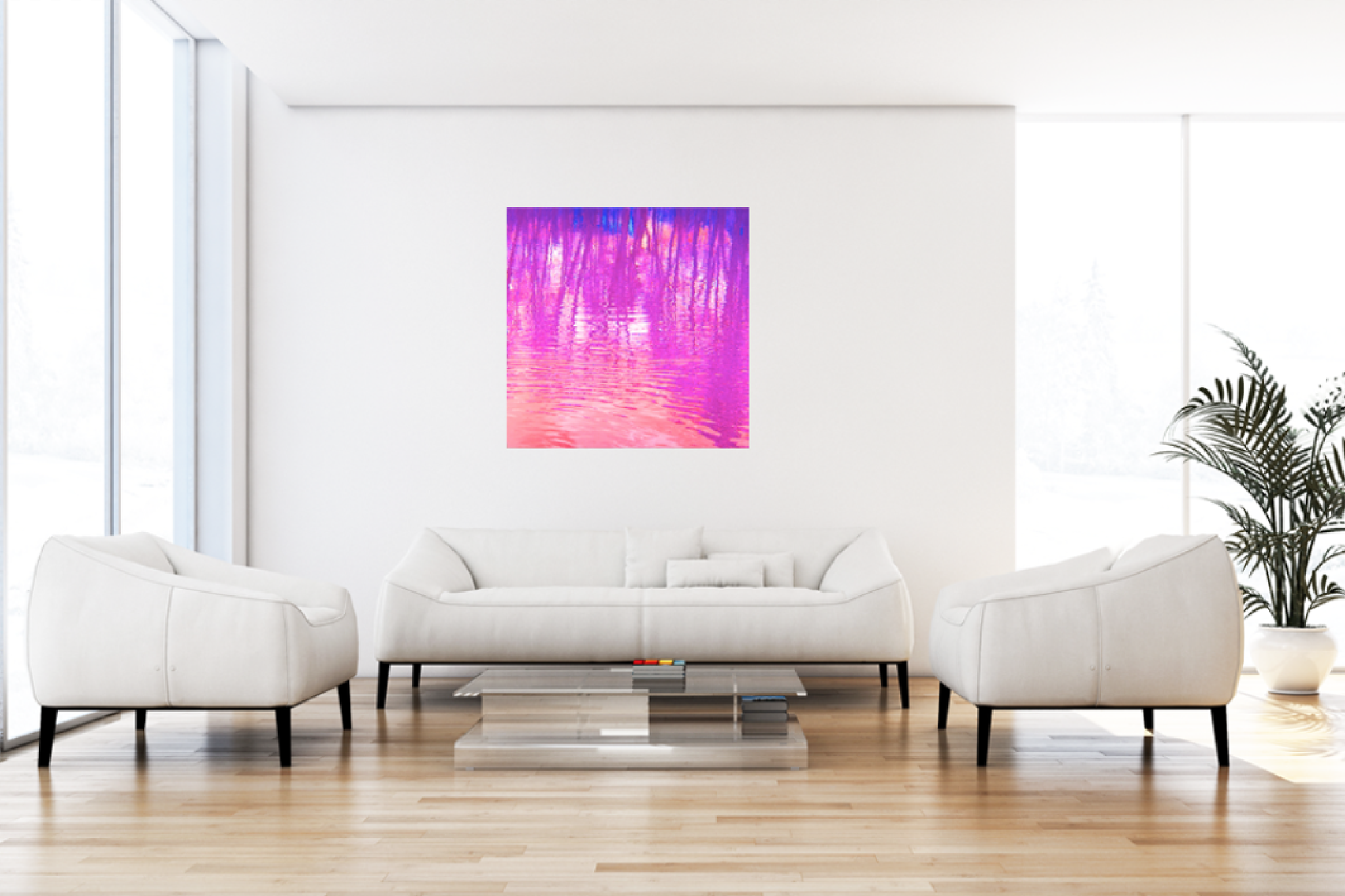 "Leinwandbild Pop Art ""Wasserwelten lila"""
