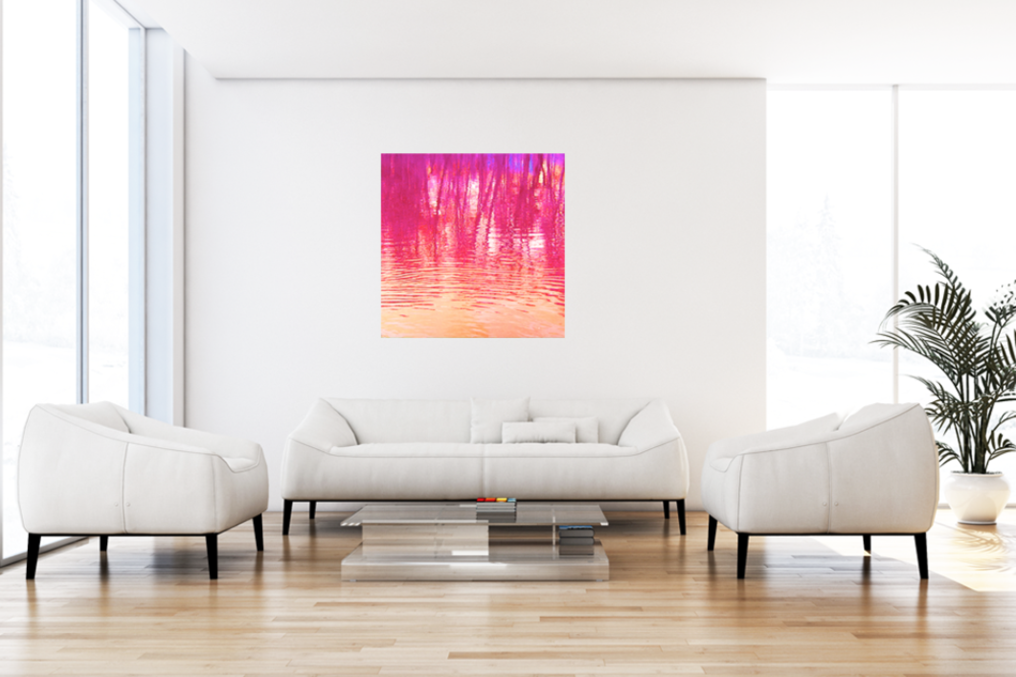 """Leinwandbild Pop Art """"Wasserwelten pink"""""""