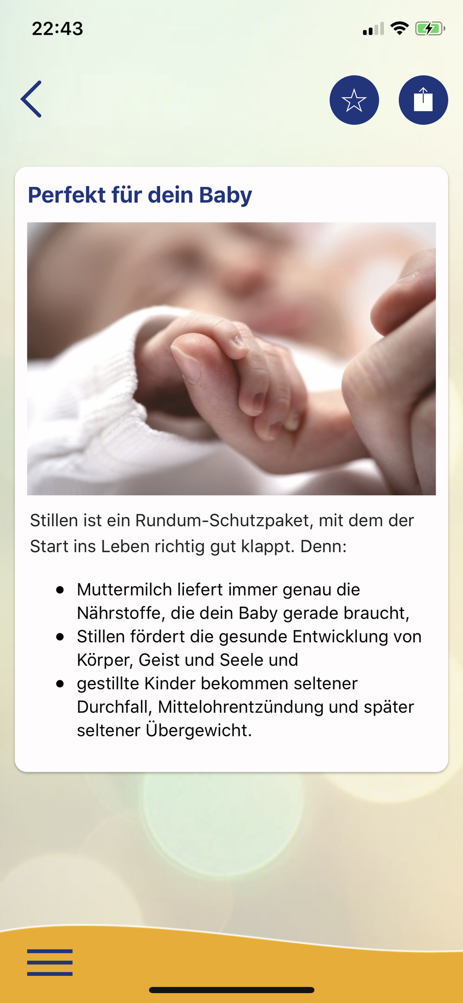 Baby & Essen: Eine auf die Ernährung von Kleinkindern ausgerichtete App für Android und iPhone.