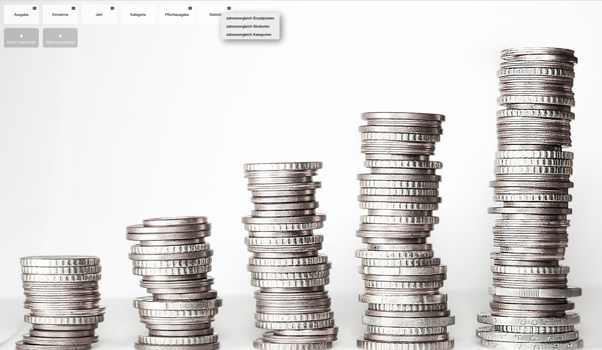 myMoneyTrend: Die Entwicklung der Finanzen für die nächsten Jahre absehen, Ausgaben planen, Trends erkennen.