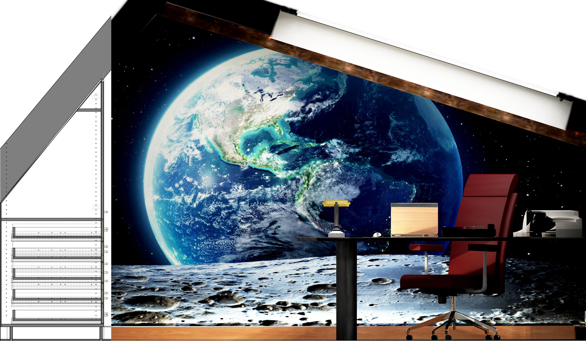Büro Front Fotorealistik mit Blick auf Terra