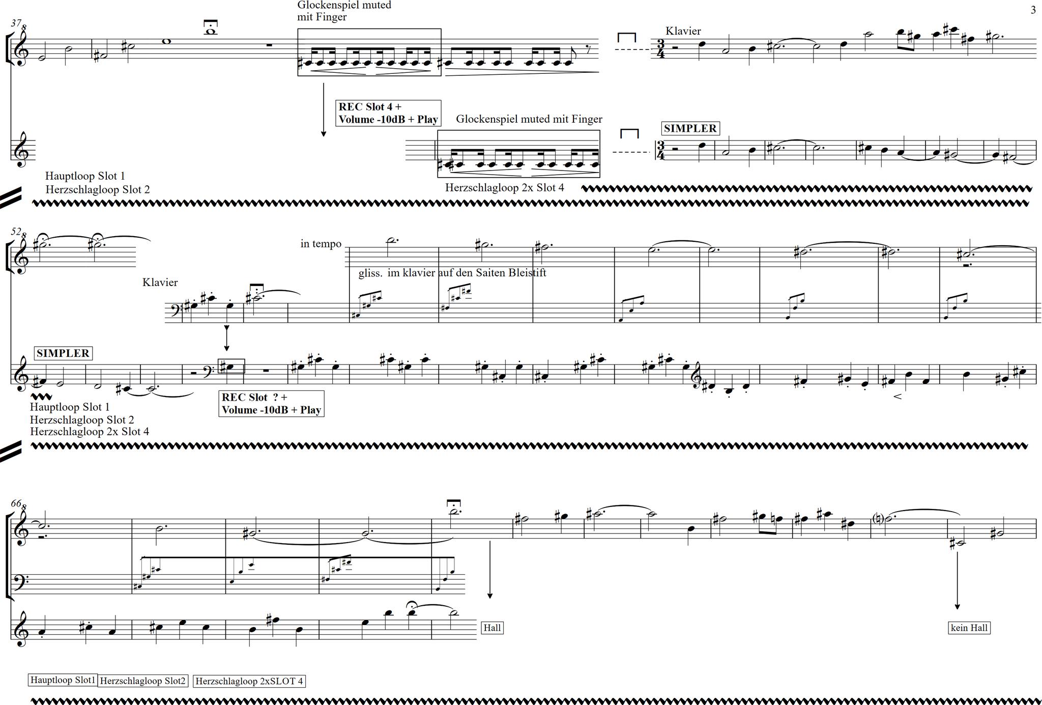 Eva Sindichakis -Matrix für Klavier solo 2010