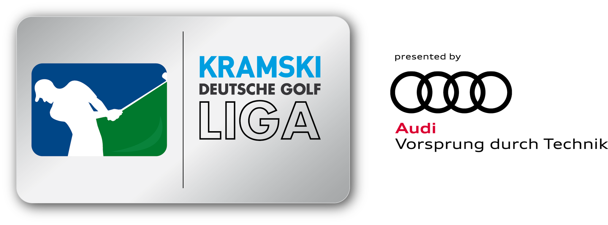 Logo KRAMSKI Deutsche Golf Liga presented by Audi