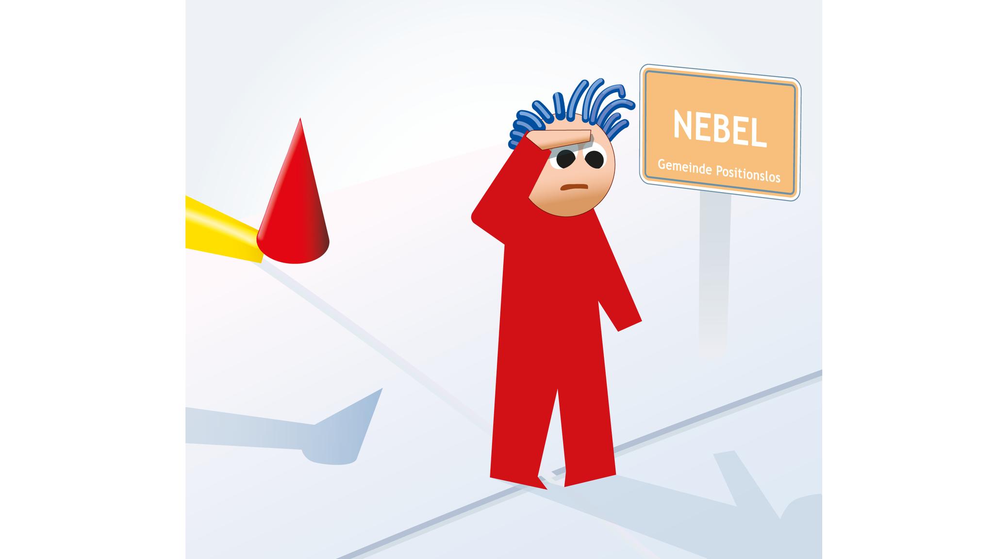 """Person im NEBEL. Bitte """"NEBEL rückwärts""""  lesen"""
