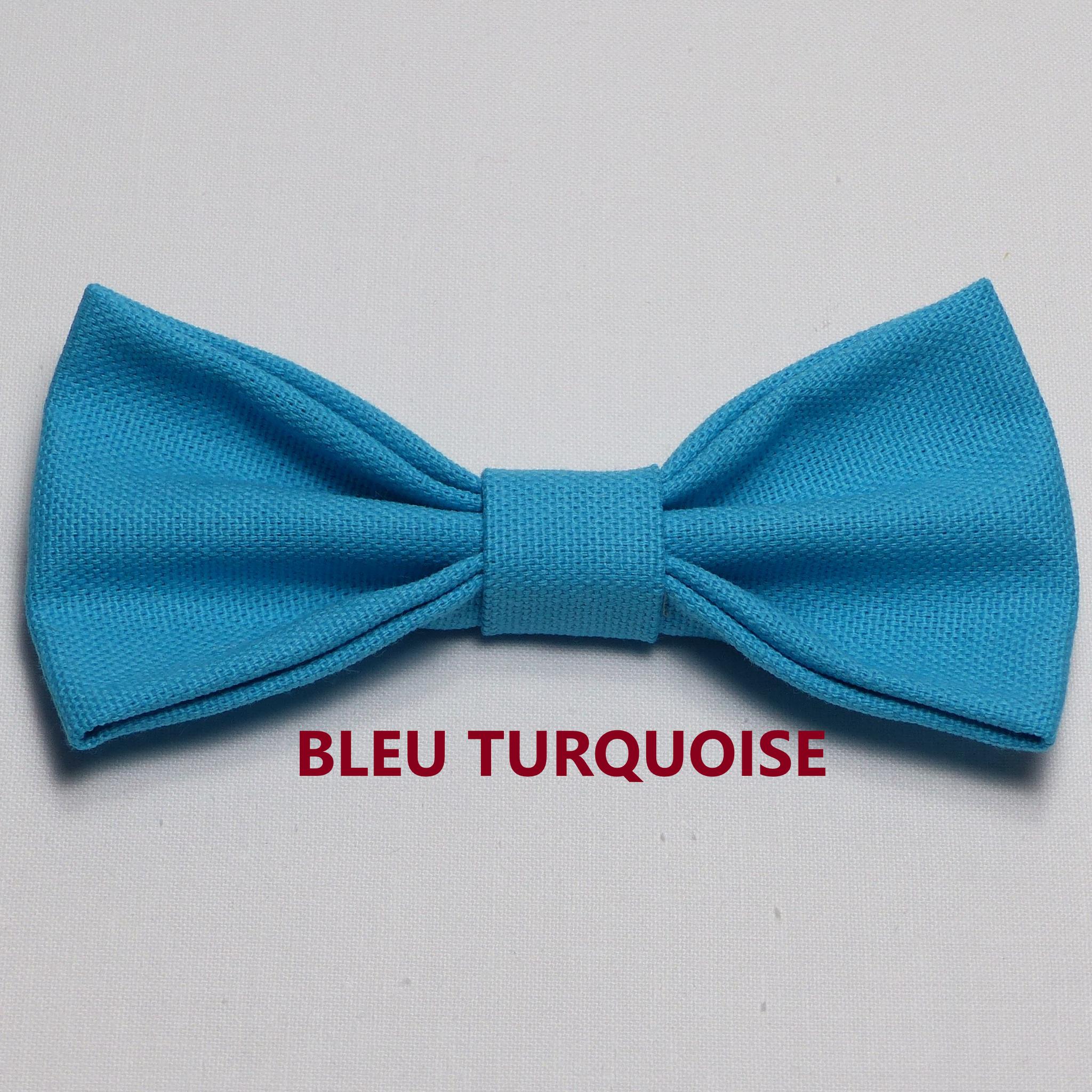Noeud Papillon Mariage Bleu Turquoise