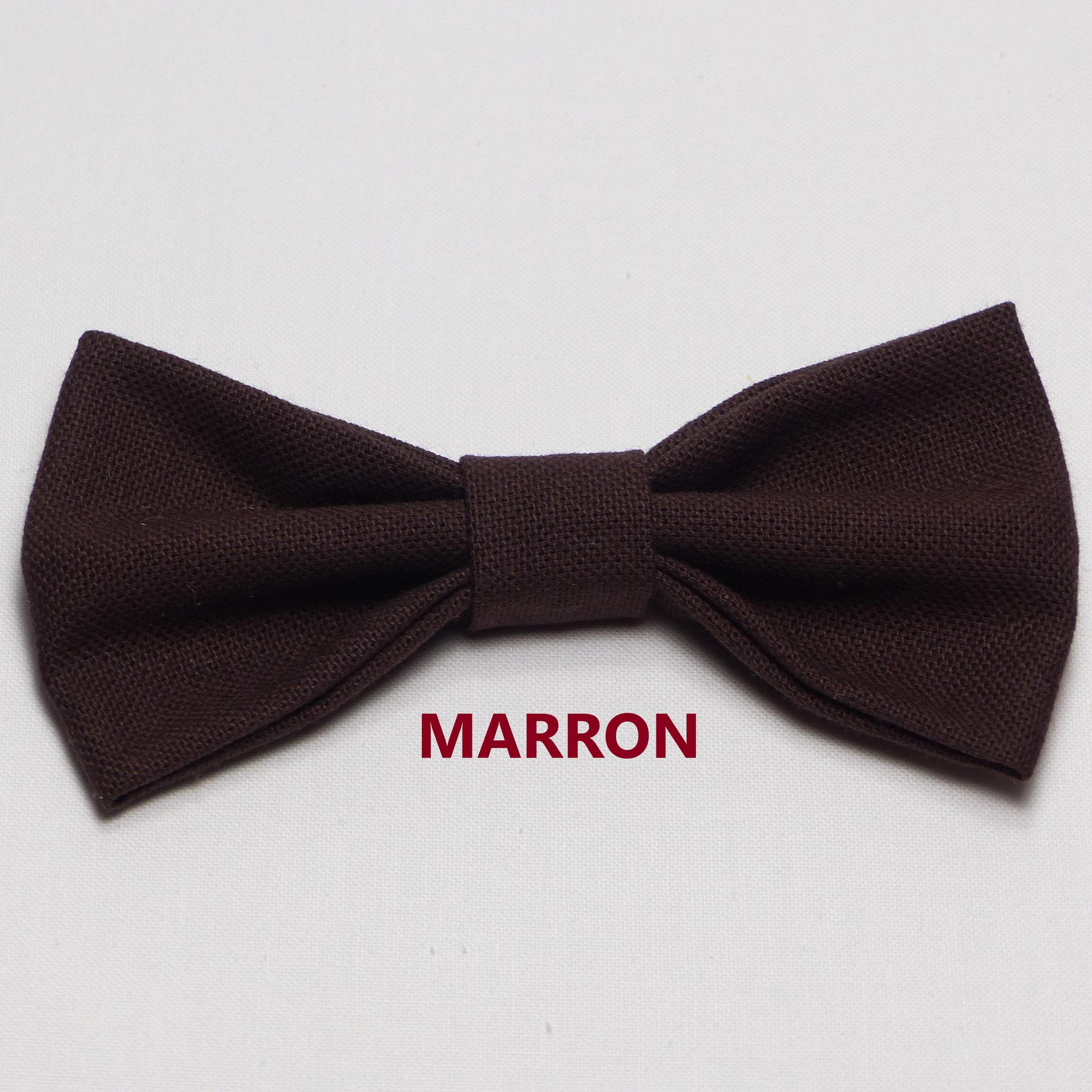 Noeud Papillon Mariage Marron