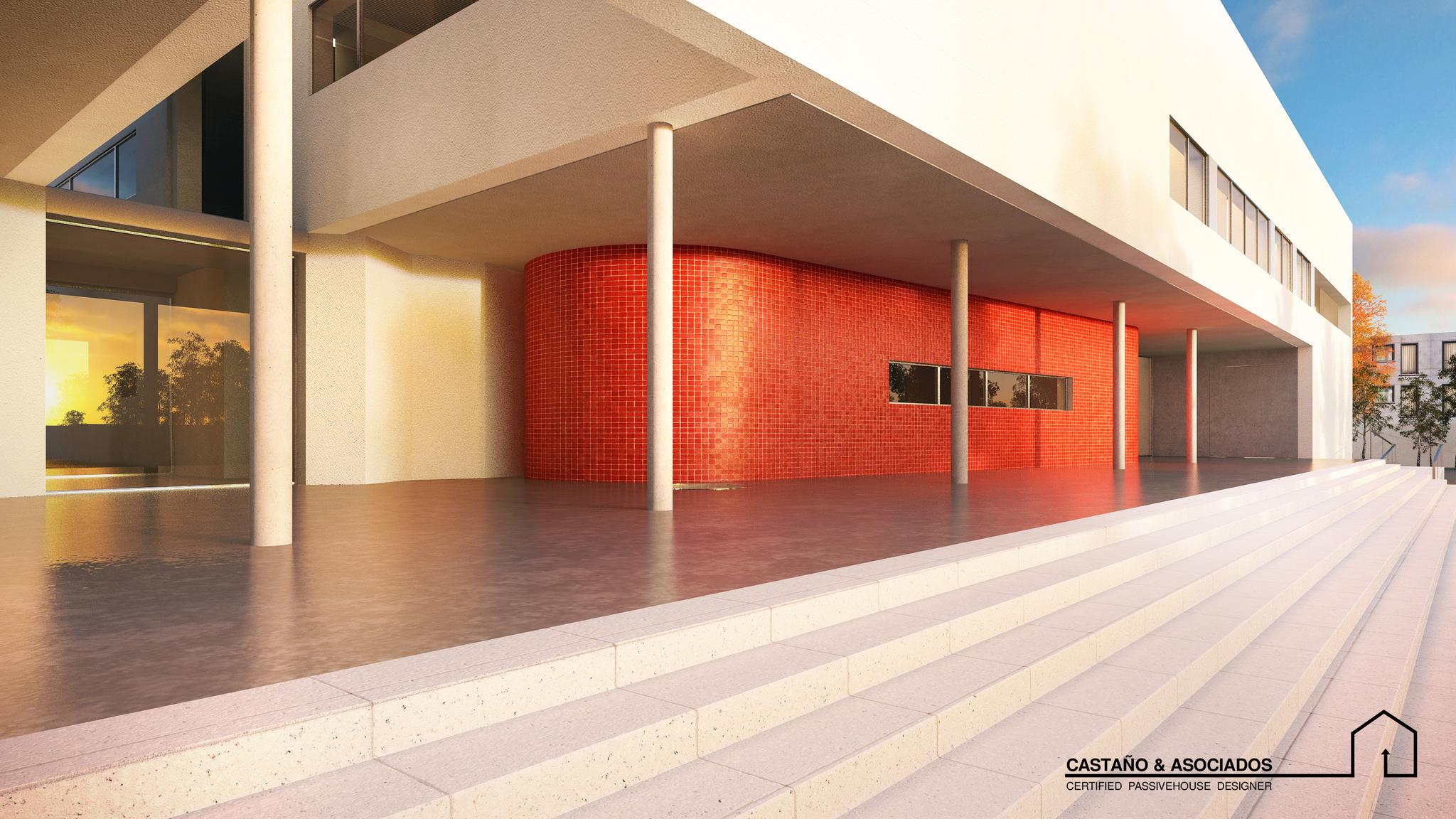 """""""PatioSchool"""": Primer Edificio de uso terciario Precertificado Passivhaus en Andalucía"""
