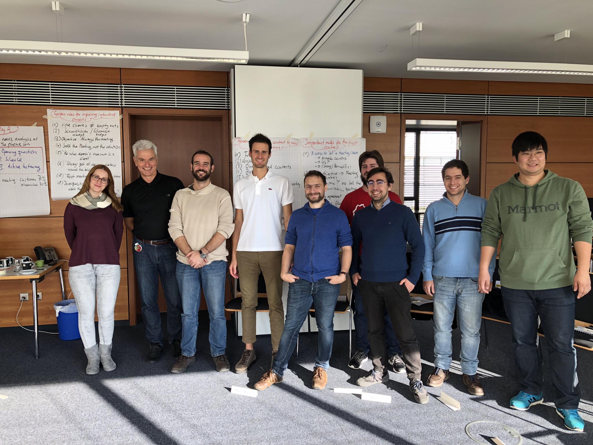 Akquisitions-Seminar des Fraunhofer ICT in englischer Sprache