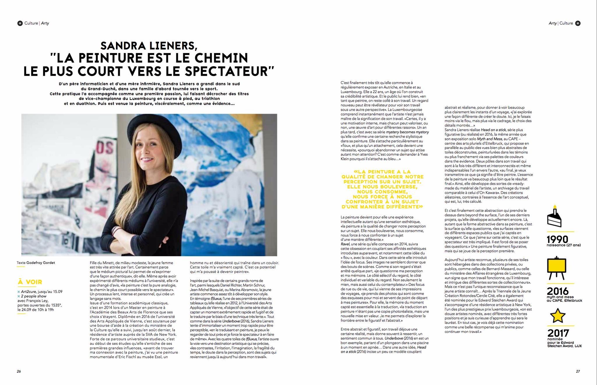 la peinture est le chemin le plus court vers le spectateur | bold magazine | september'17 | LUX