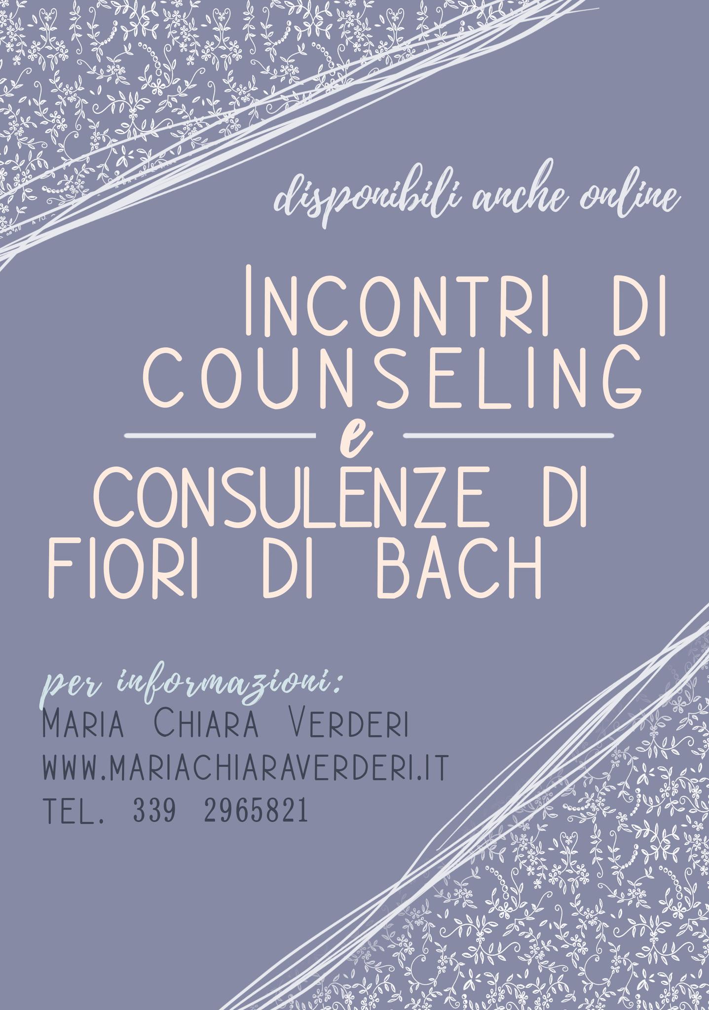 Milano, tutte le settimane dal martedi al venerdi dalle ore 10,00 alle ore 18,00. incontri di Counseling e consulenze di Fiori di Bach su appuntamento.