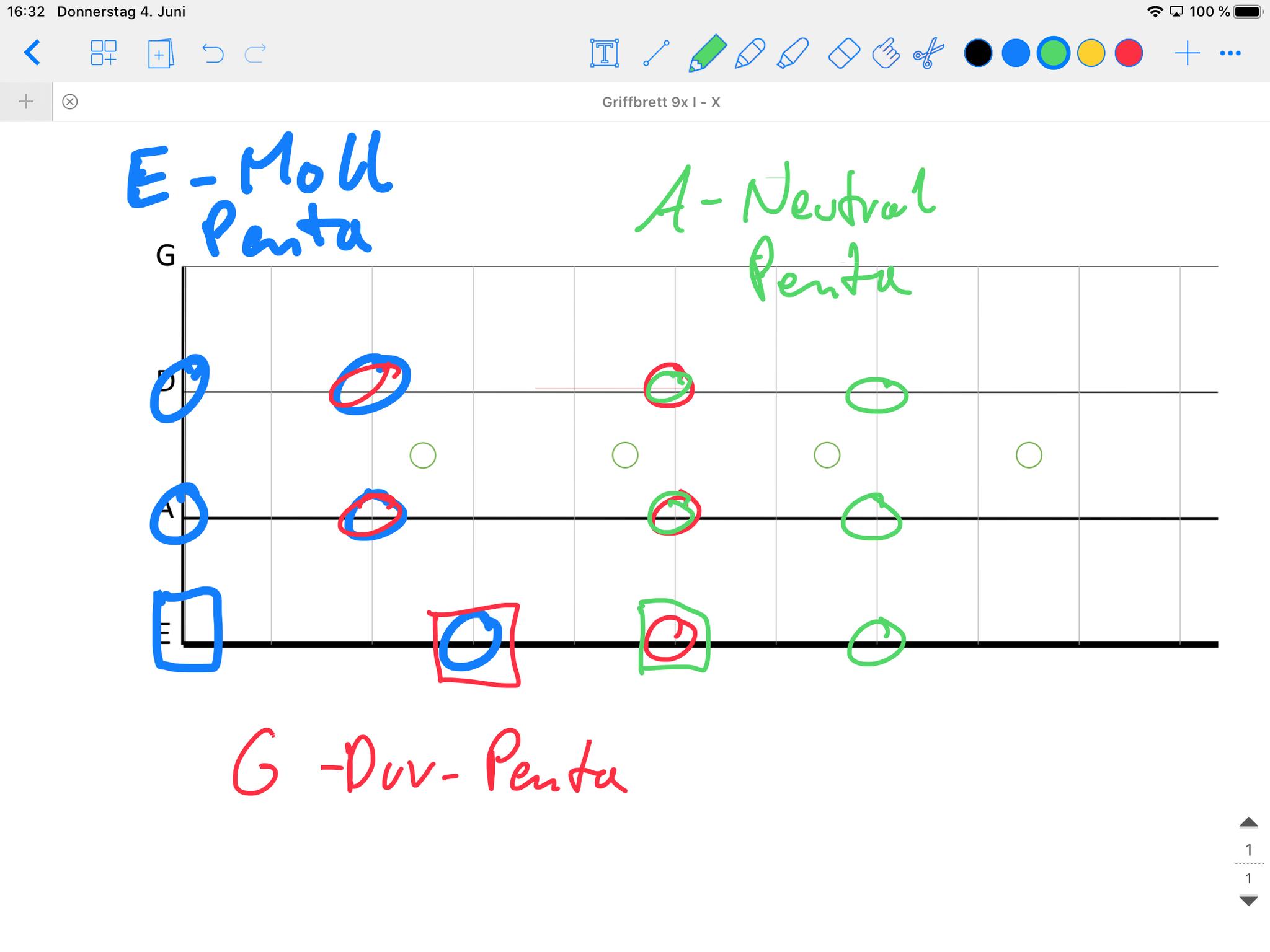 Bsp. digitale Tafelanschrift E-Bass