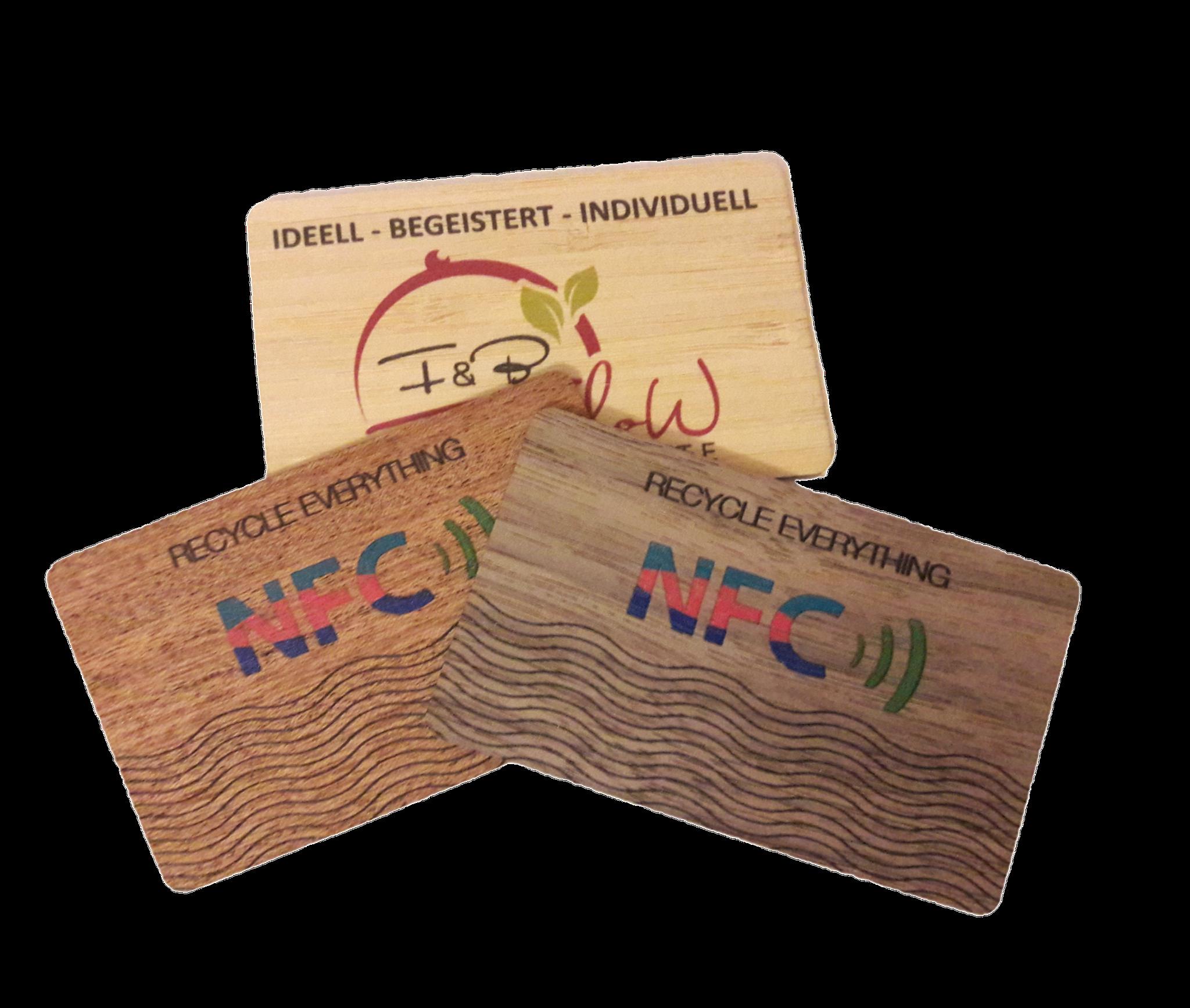 Holzkarten ( Bambus/ Kirsche/ Eiche / Buche)