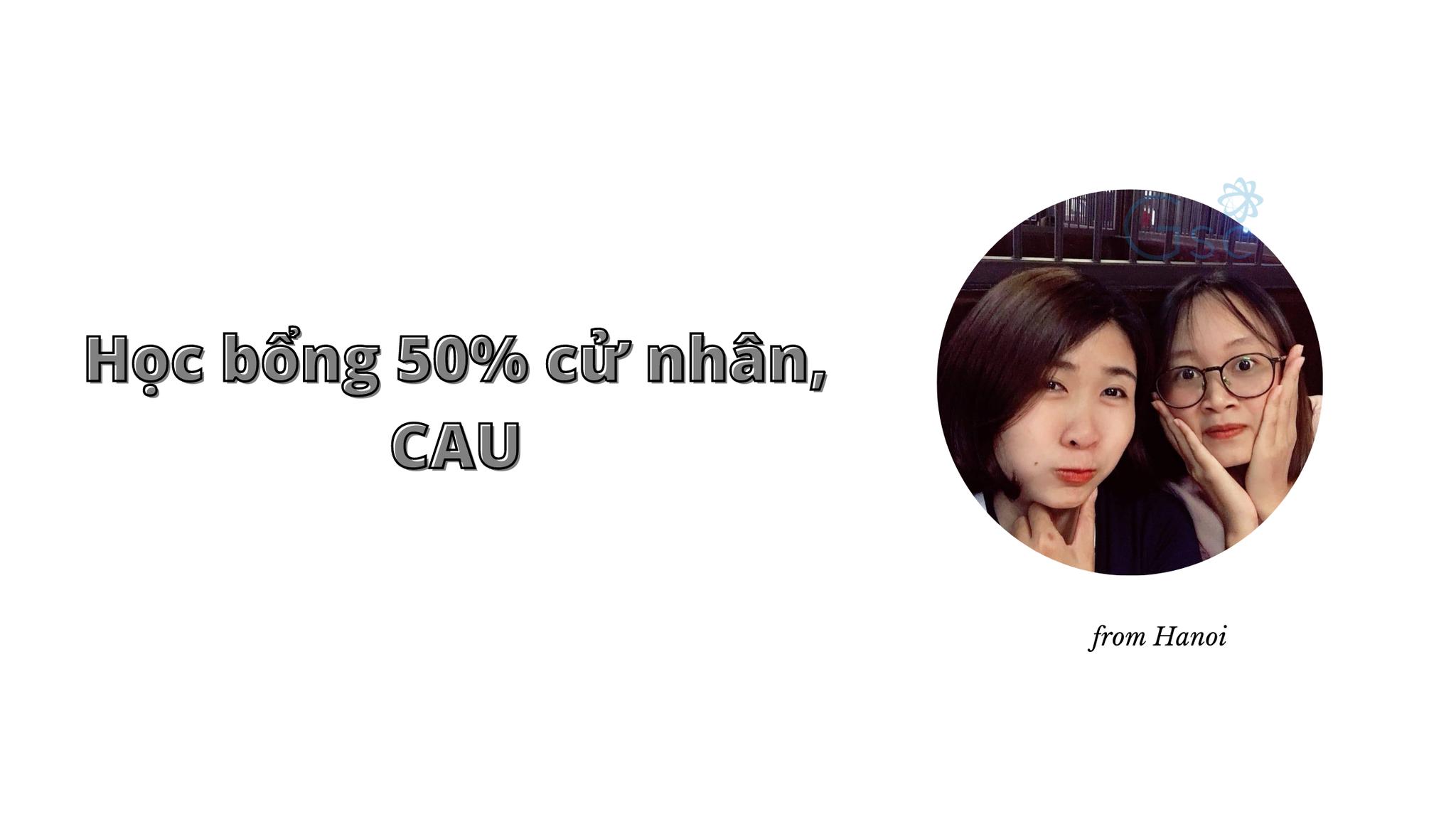 Bạn Linh từ Hà Nội đã xuất sắc được học bổng 50% cử nhân tại đại học CAU