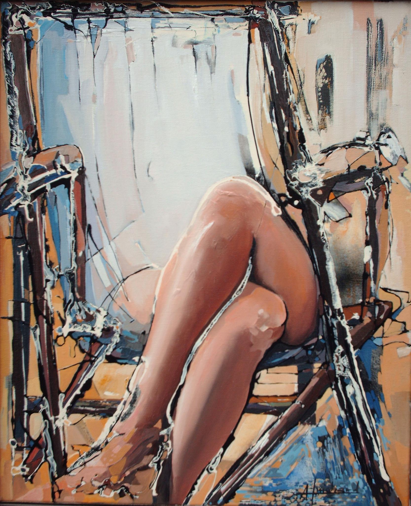 """Alain GUICHARD """"Relax"""" acrylique"""