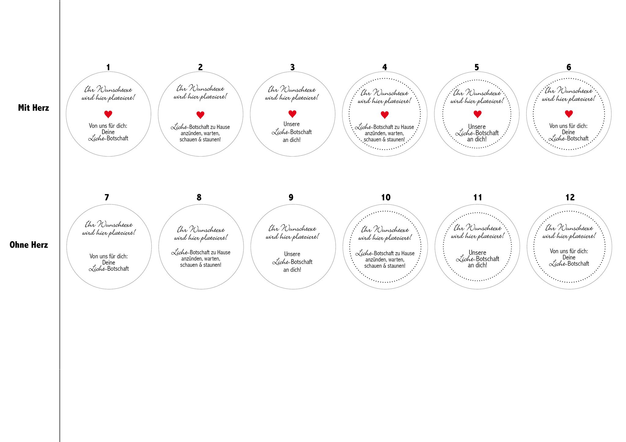 Alle Designs für die Platzkarte