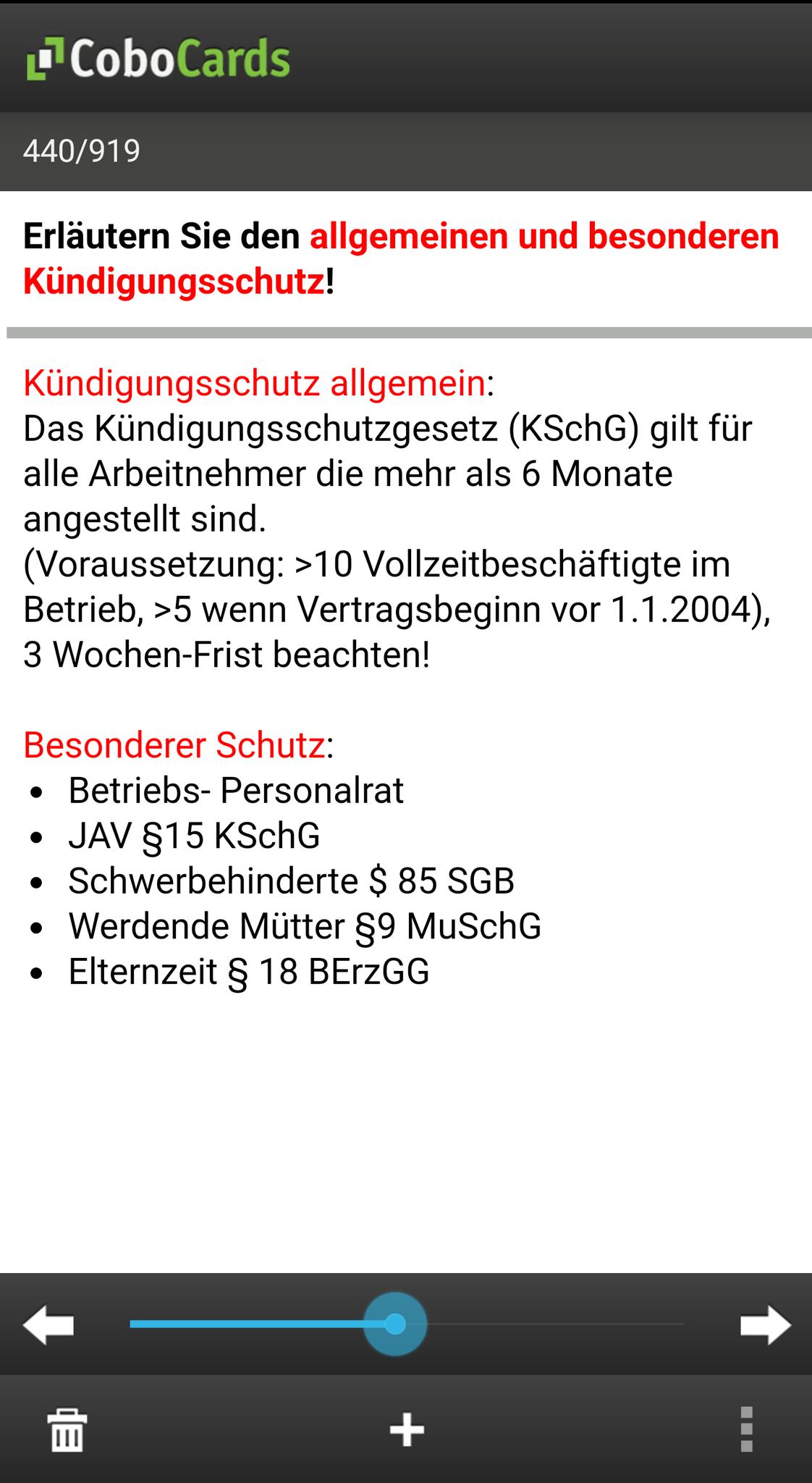 """Lernkarten in der App - Lernmodus """"Blättern"""""""