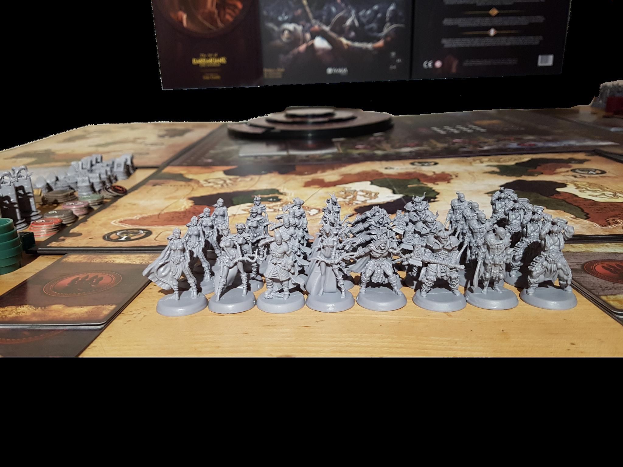 Barbarians The Invasion Helden-, Truppenmarker und Schädelspalter-Miniaturen