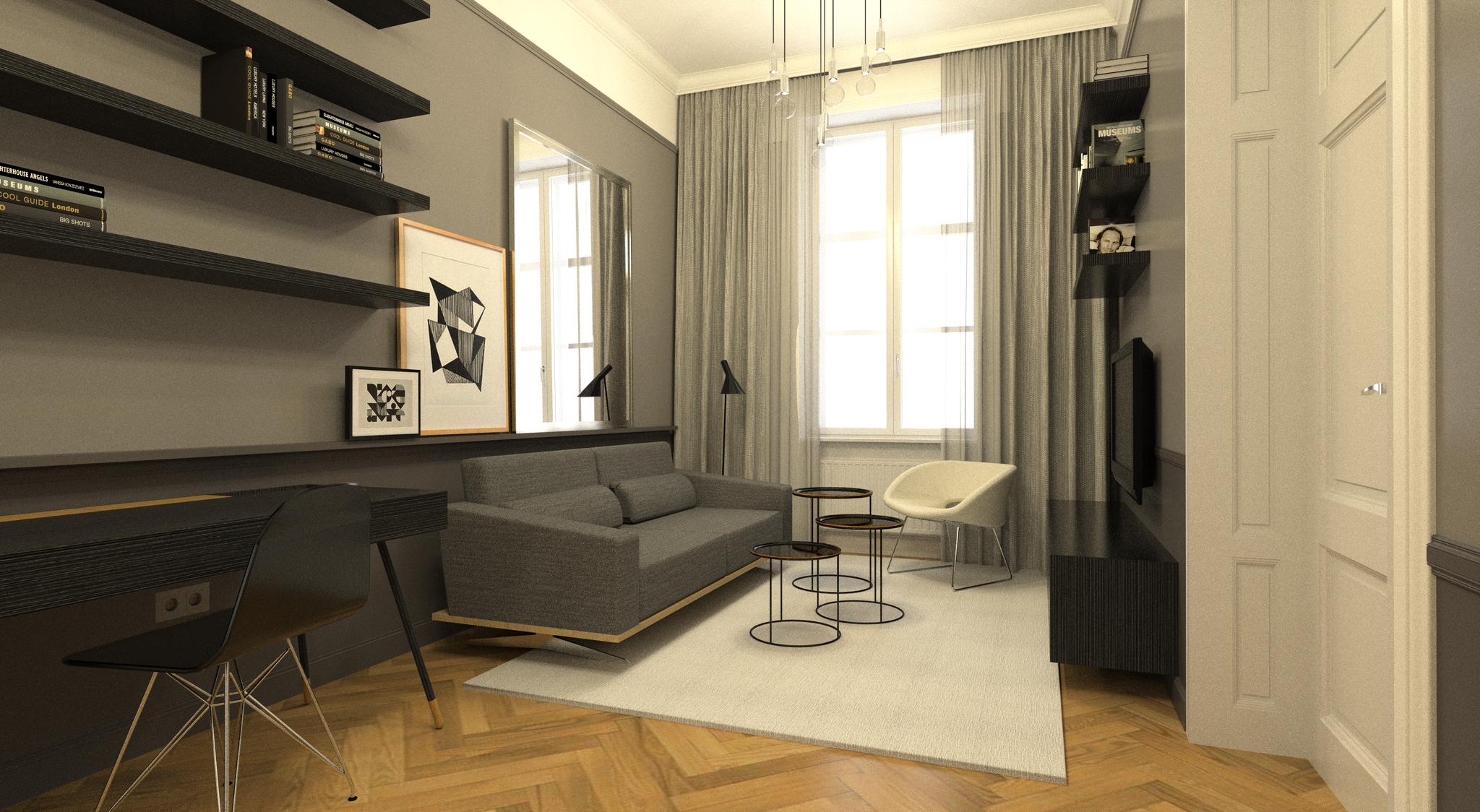 Umbau Altbauwohnung Belgiergasse Graz | Wohnzimmer