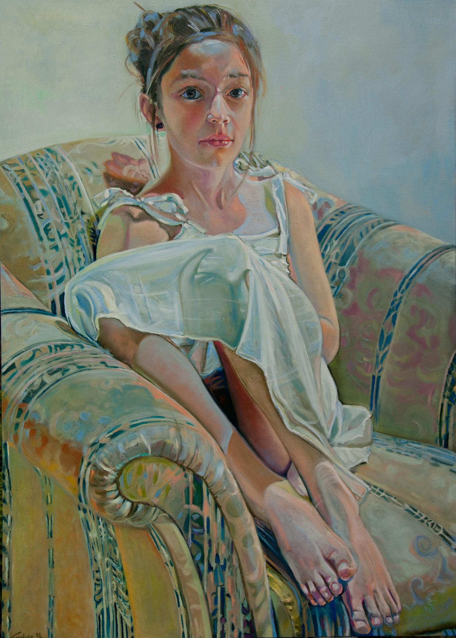 Annunciation - Oil 120 cm x 100 cm 2015