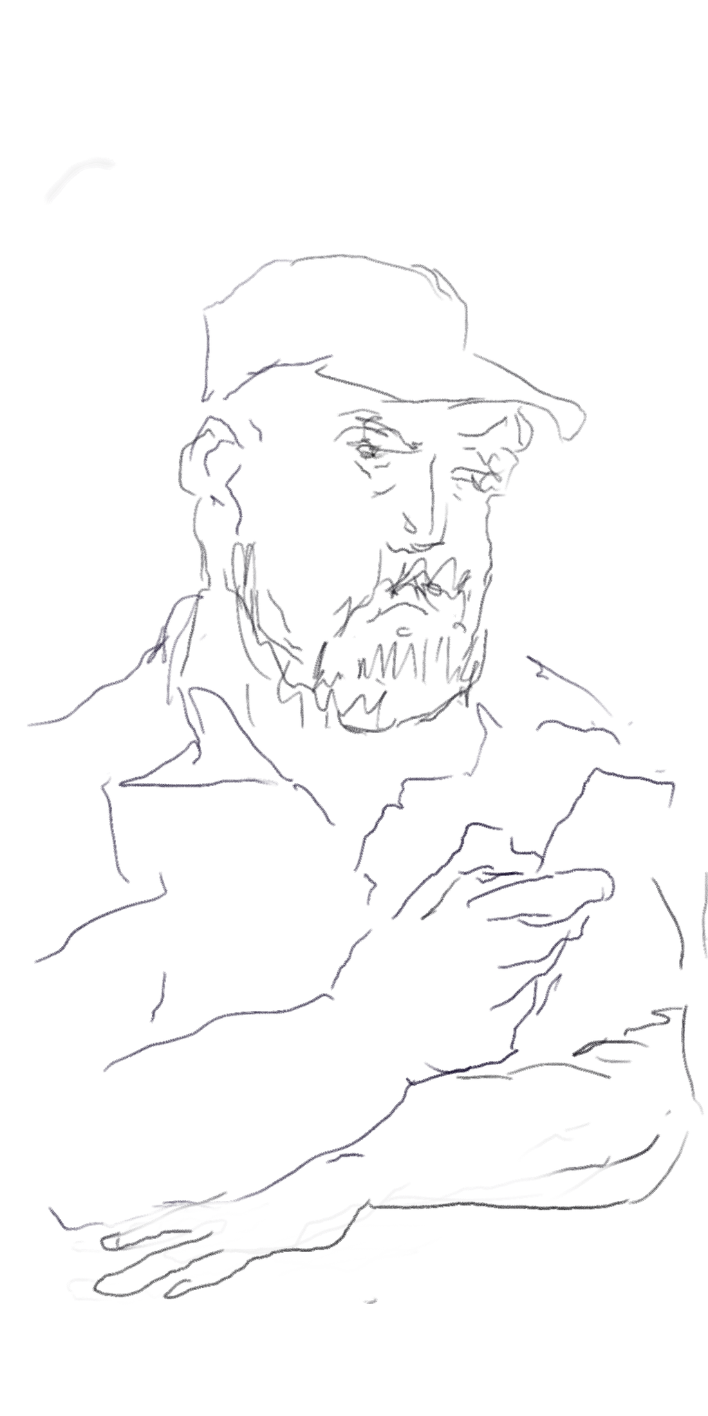 Fahrgast, Screenzeichnung, 2020