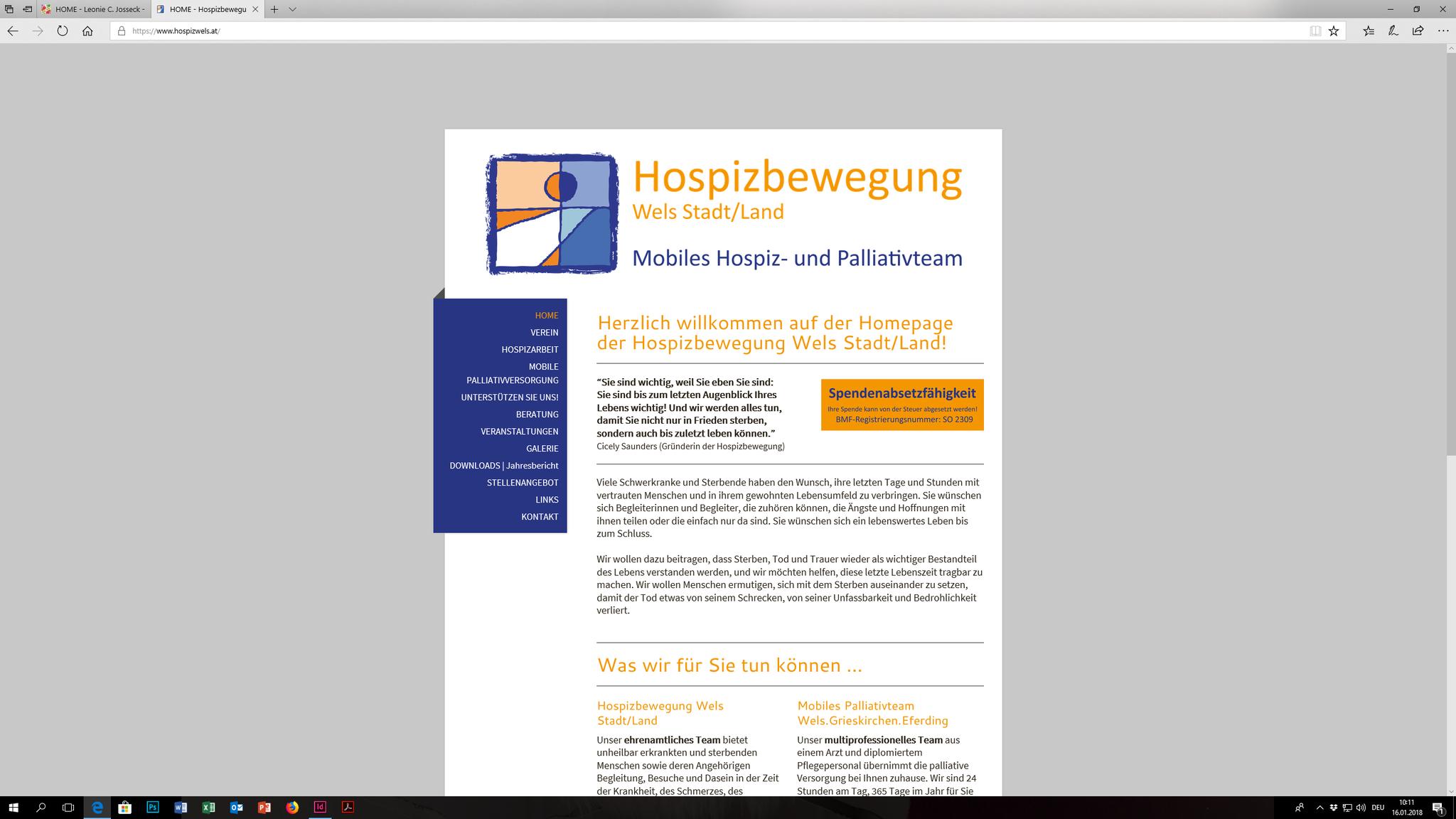 Hospizbewegung Wels Stadt/Land: Web-Design