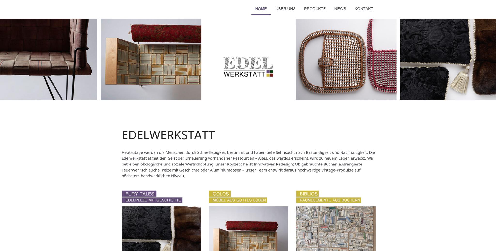 Edelwerkstatt: Web-Design