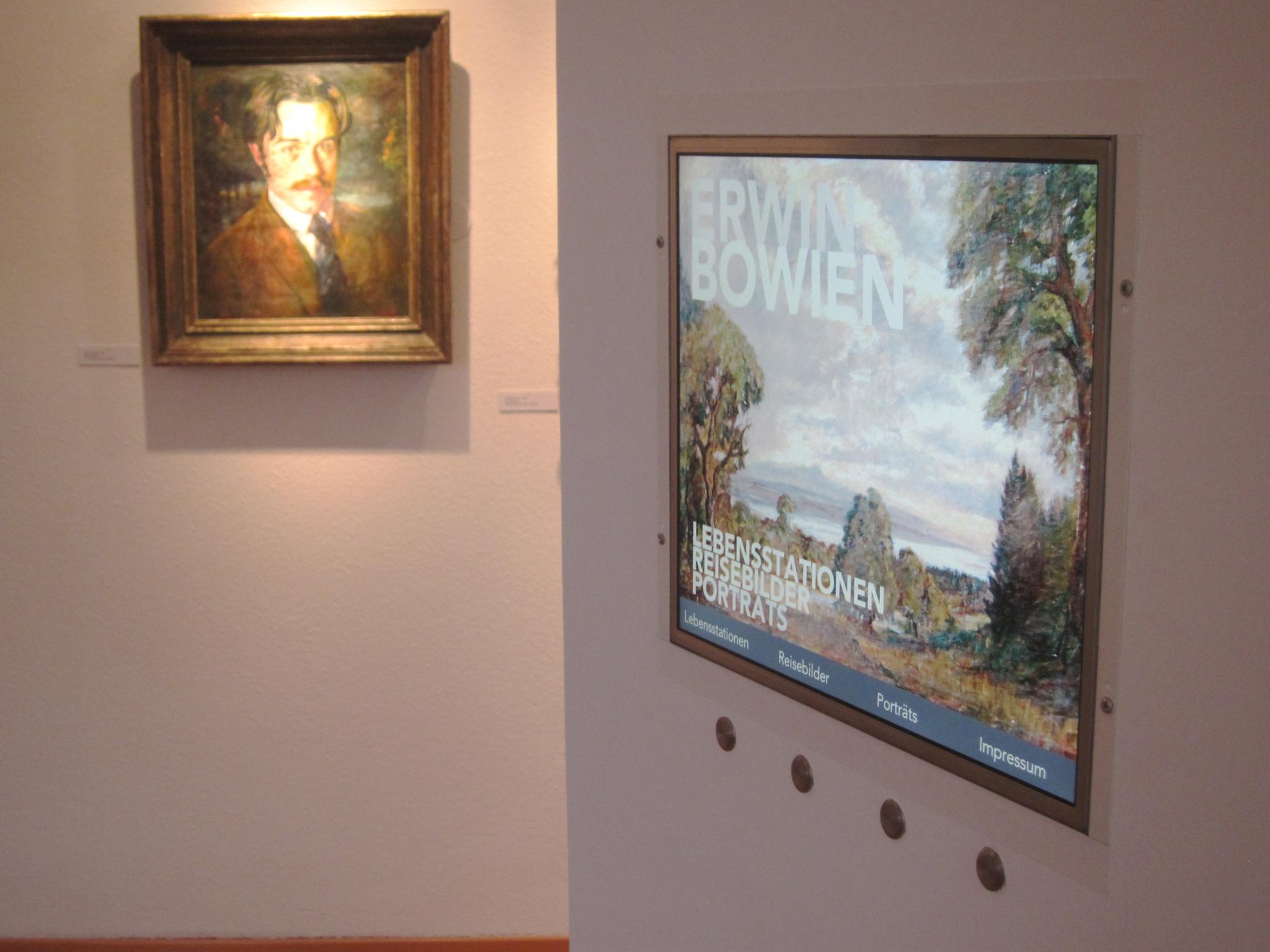 Einsatz Multimedia bei der Retrospektive im Museum am Lindenplatz