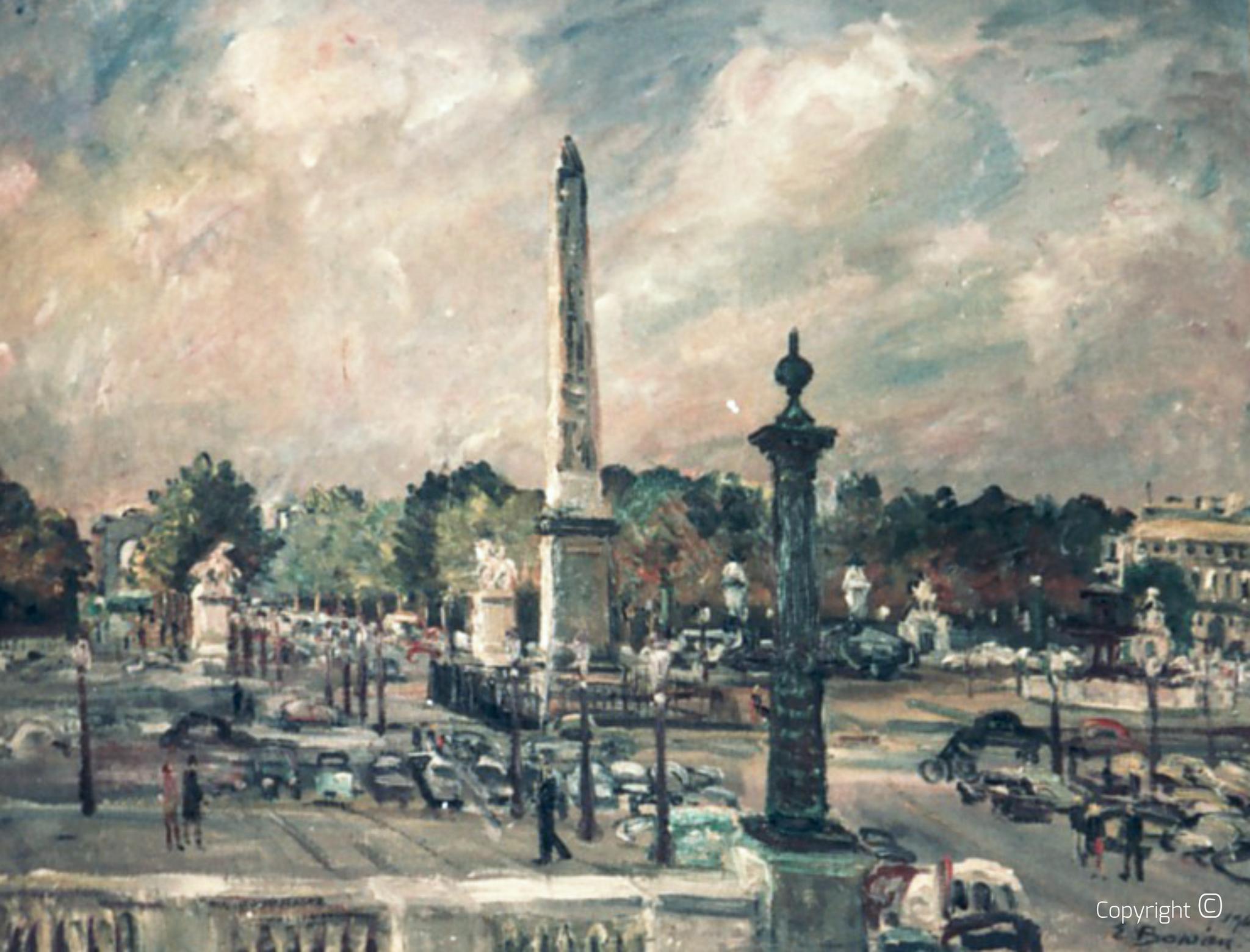 Obelisque Place de la Concorde, 1964