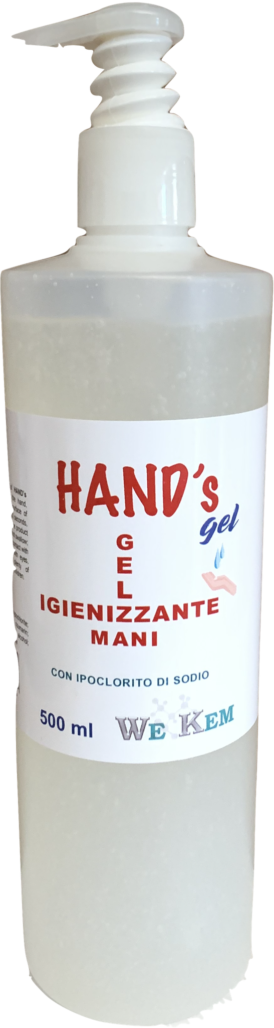 GEL IGIENIZZANTE MANI 500ml dispenser