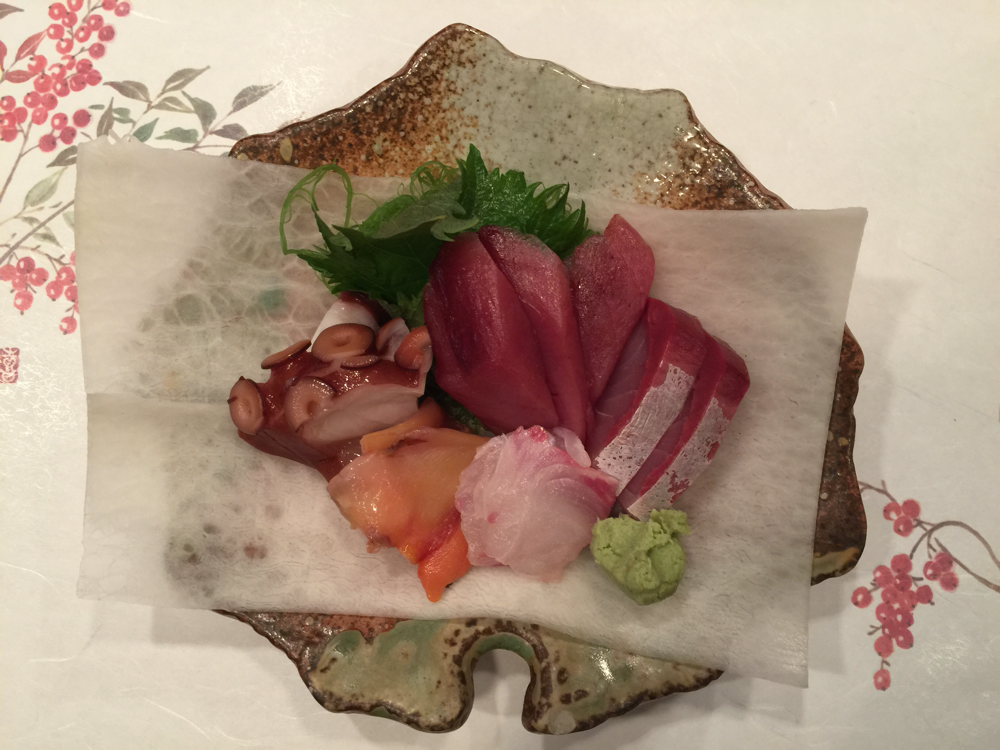 Choice A:  Osashimi, Raw Fish