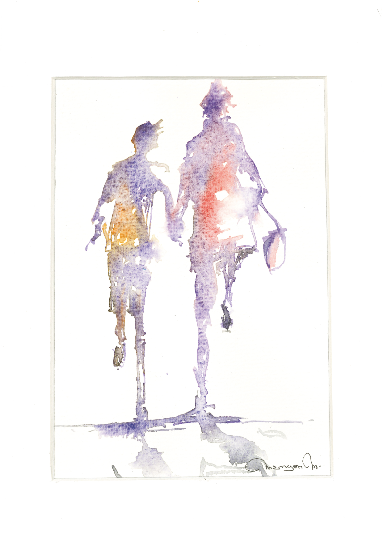 Une aquarelle de Michel Mangon