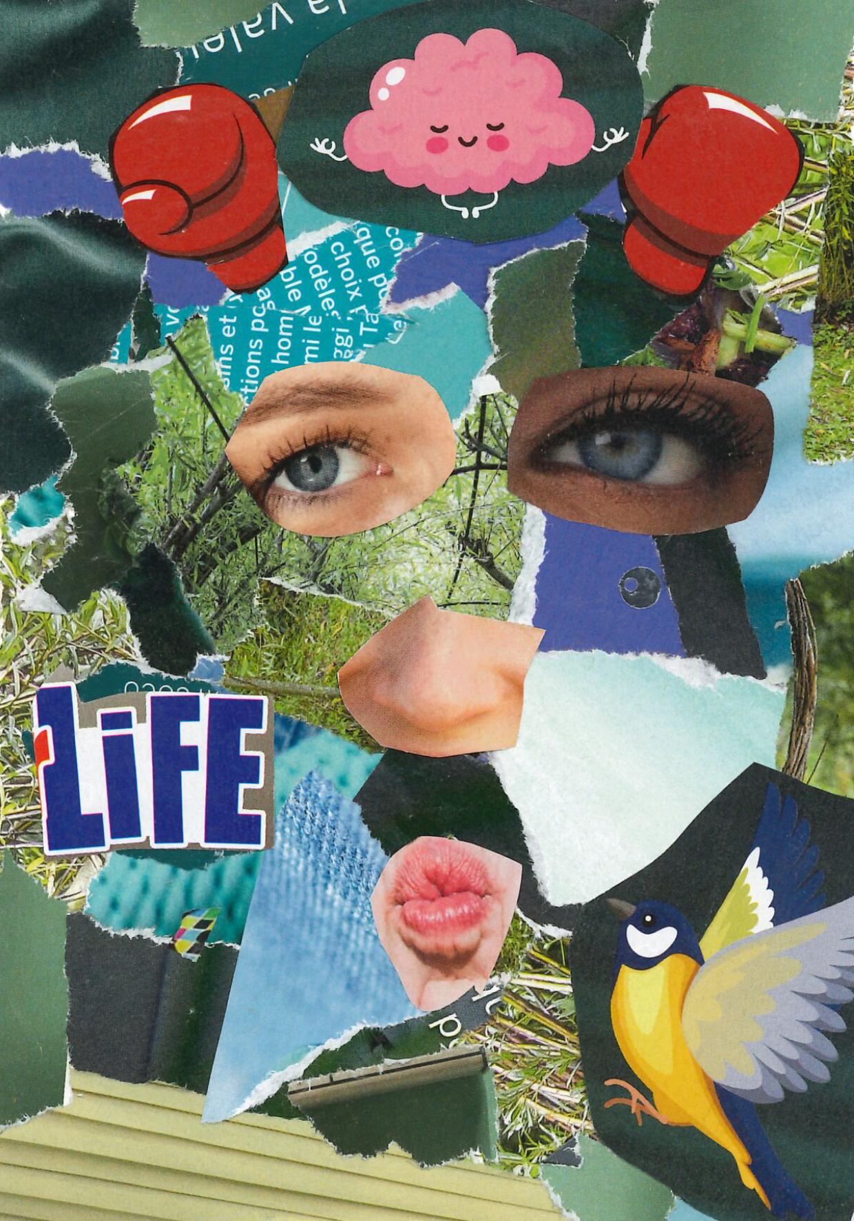 Un collage coloré et anonyme