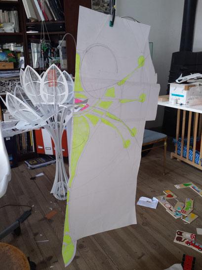 Fleurs Fantastiques 2.015 L.Raphaël Genève. Making of: Descriptive plans