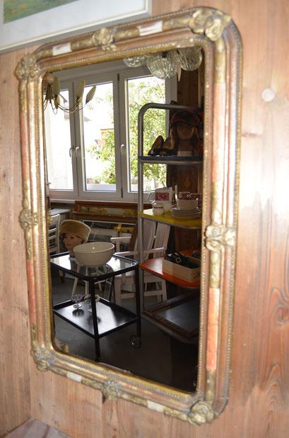 antiker, barocker Rahmen mit neuem Spiegelglas. 90,5 cm hoch, 59 cm breit. Preis: VB 150,00 €