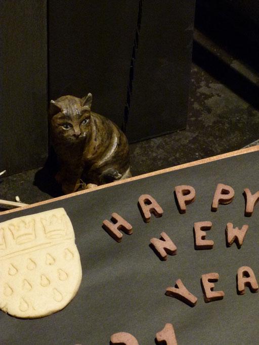 ... ein glückliches Neue Jahr ... alle Jahre wieder (Milieukrippe Sankt Maria Lyskirchen, Idee und Konzeption: Benjamin Marx, Foto: Matthias Schnegg)