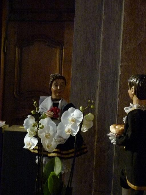 Das Tanzpaar gehört einfach zu Lyskirchen dazu ... (Milieukrippe Sankt Maria Lyskirchen, Idee und Konzeption: Benjamin Marx, Foto: Matthias Schnegg)